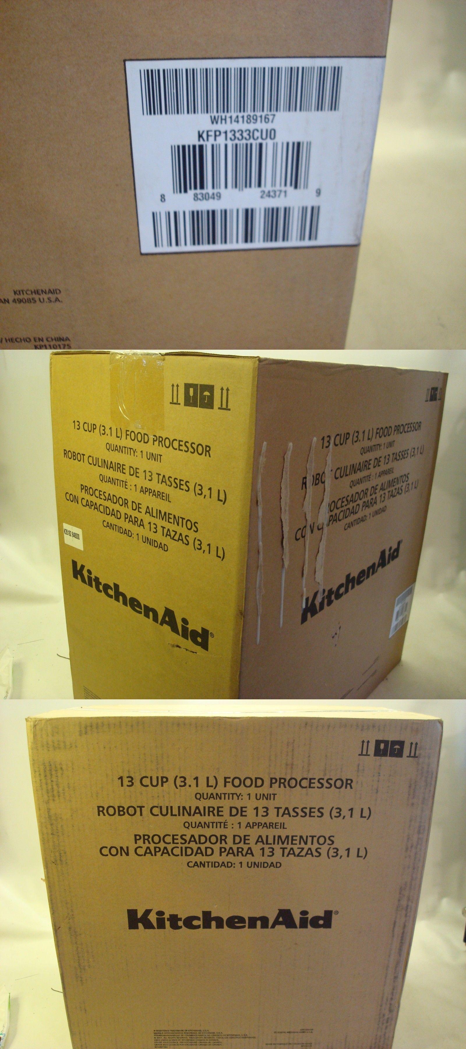food processors 20673 new in box kitchenaid 13 cup 3 1l wide mouth rh pinterest com