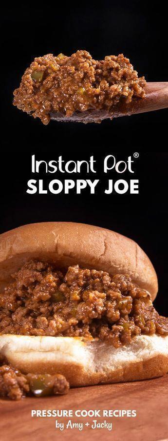 Instant Pot Sloppy Joes #instantpotrecipeseasy