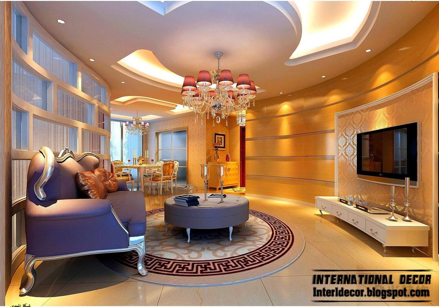 living room pictures - Living Room Pop Ceiling Designs
