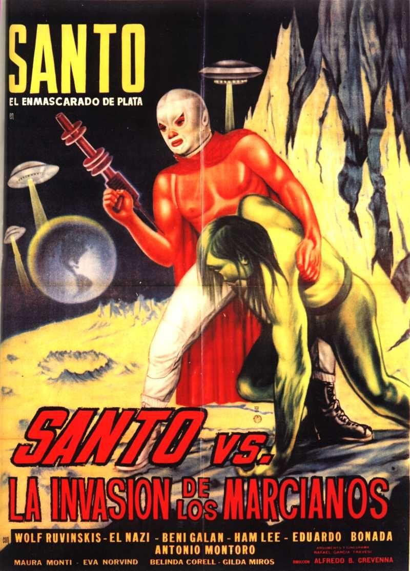 """Poster """"Santo VS La Invasion De Los Marcianos"""""""