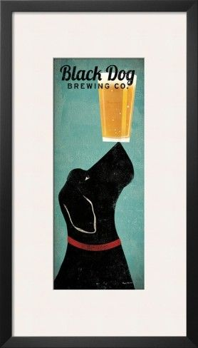 Black Dog Brewing Co. Poster by Ryan Fowler at AllPosters.com