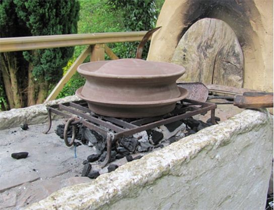A clibanus oven over charcoal - how ancient romans cooked - very interesting article by British Museum