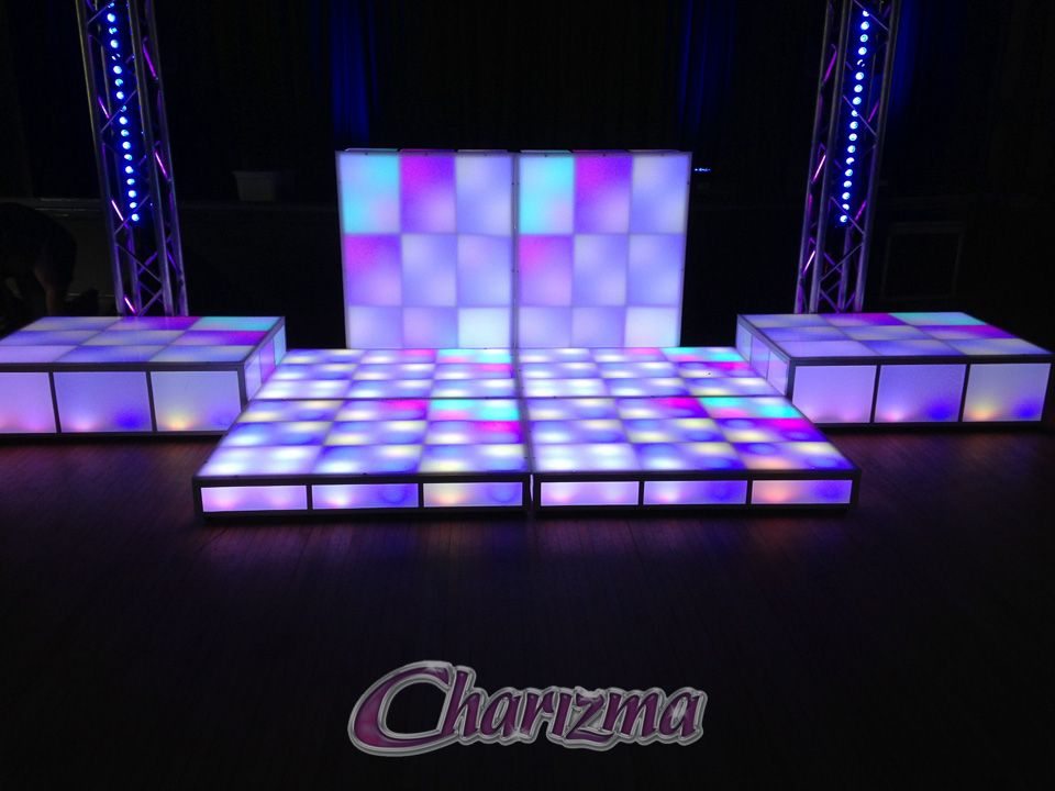 LED DANCE FLOORS Create A High Energy Focal Point At Your Dance With - How to make a lighted dance floor