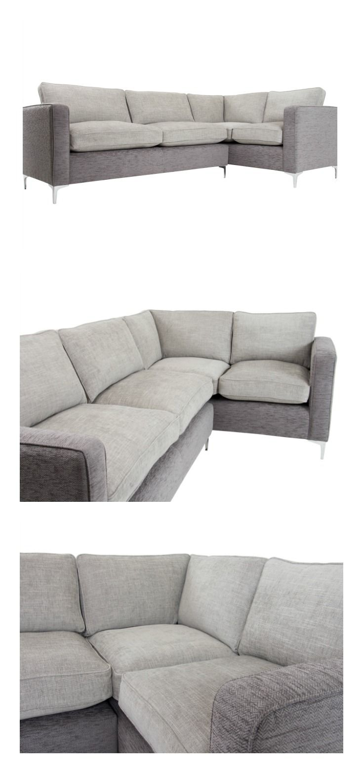 Curl Up On A Beautiful Right Corner Sofa In Contemporary Pewter And Cloud  Fabrics Which Sits