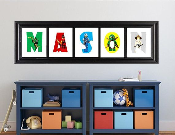 Room Ideas Personalized Lego Ninjago Name Art Custom Letters Digital File Boy