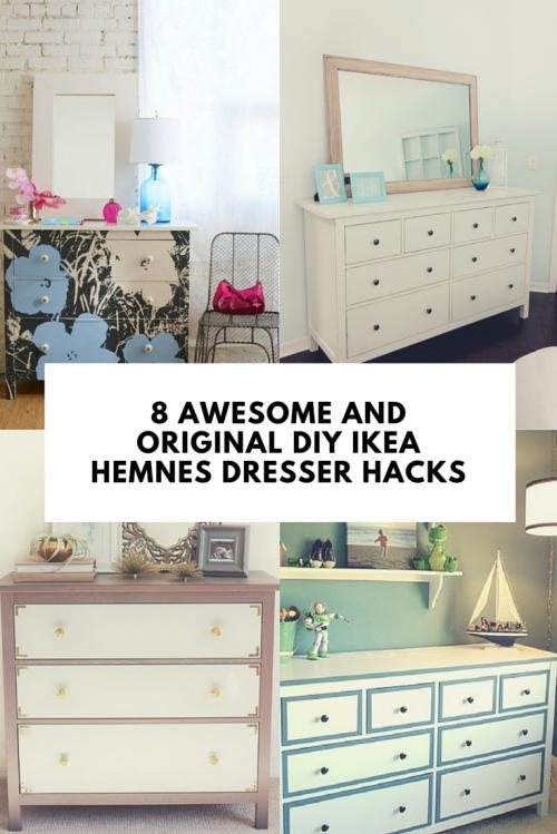 8 Awesome And Original DIY IKEA Hemnes Dresser Hacks Shelterness | Shelterness