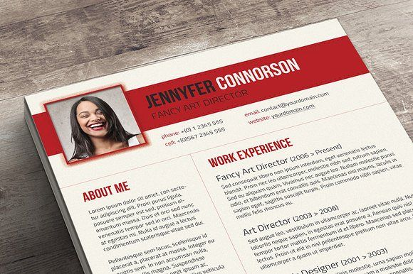 Fancy Resume \ Cover Letter by Visual Impact on @creativemarket - fancy resume template