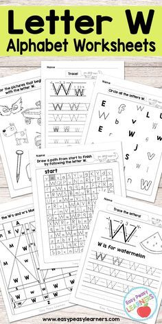 Free Printable Letter W Worksheets   Alphabet Worksheets Series
