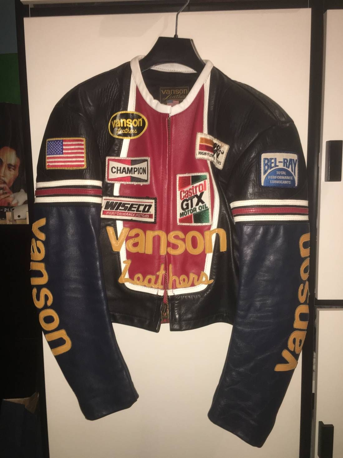 Vanson Leathers Vanson Star Leather Motorcycle Jacket