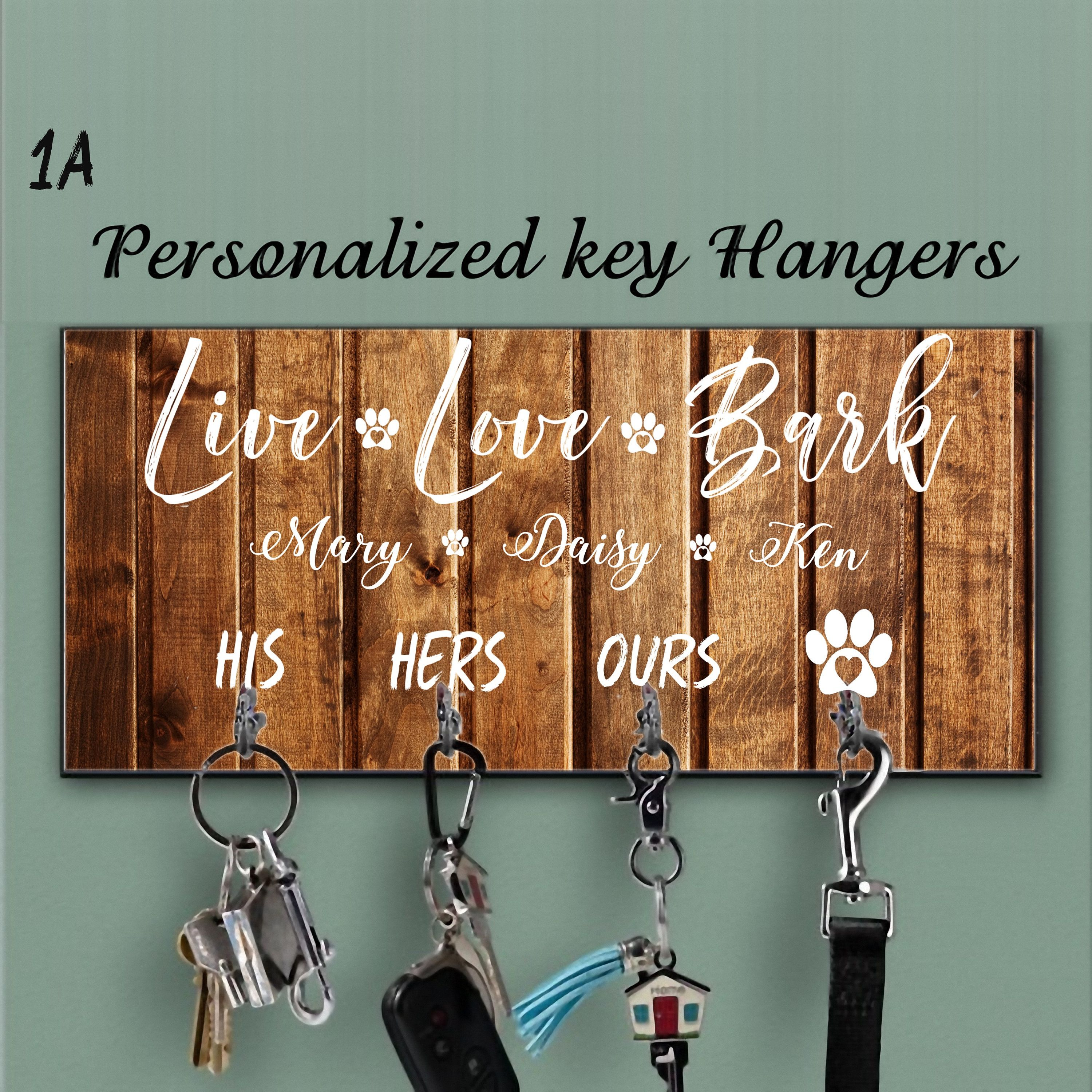 Dog Sign Personalised Dog Lead Hook Gift For Pet Owner Key Holder New Home Gift Dog Lead Holder Gifts for dog owners Photo Holder