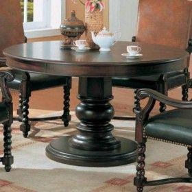 Coaster Riverside Round Dining Table in Dark Wood $474.00