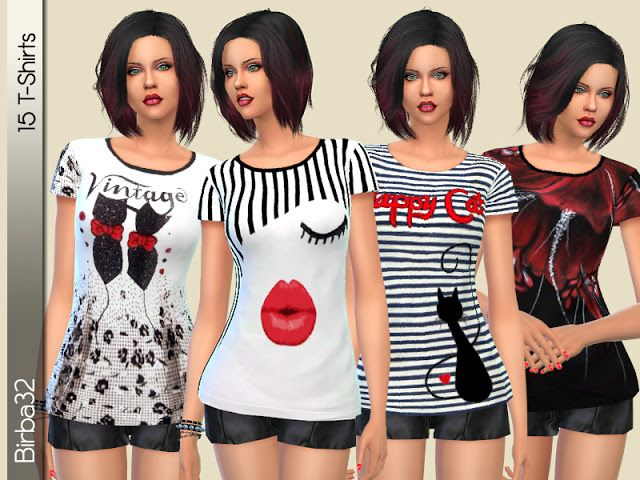 Sims 4 CC's - The Best: Shirts by Birba32