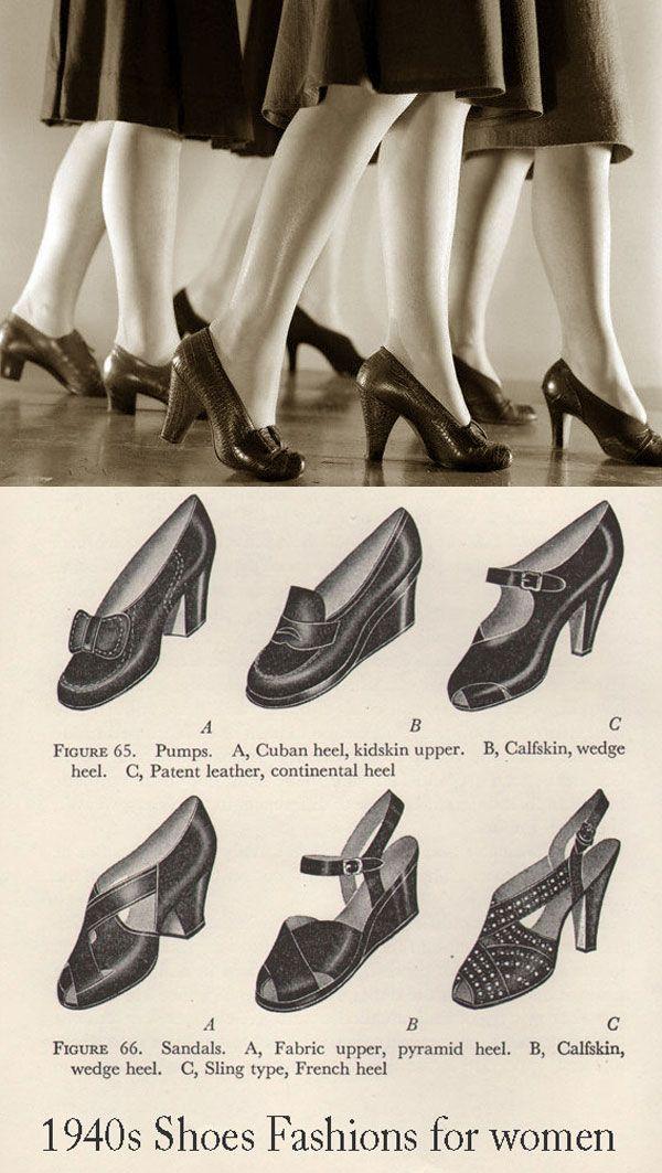 A moda na década de 30 | Calçados vintage, Sapatos para