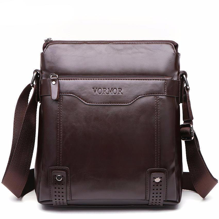 117d58bd538d VORMOR Brand Fashion PU Leather Men s Messenger Bags Portfolio Office Men  Bag