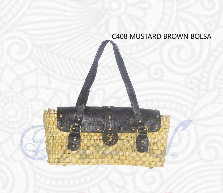 C408 MUSTARD BROWN BOLSA  Compacta, facil de usar, practica
