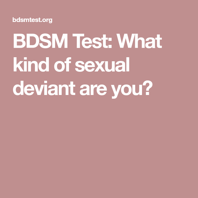 What Is Sexual Deviant