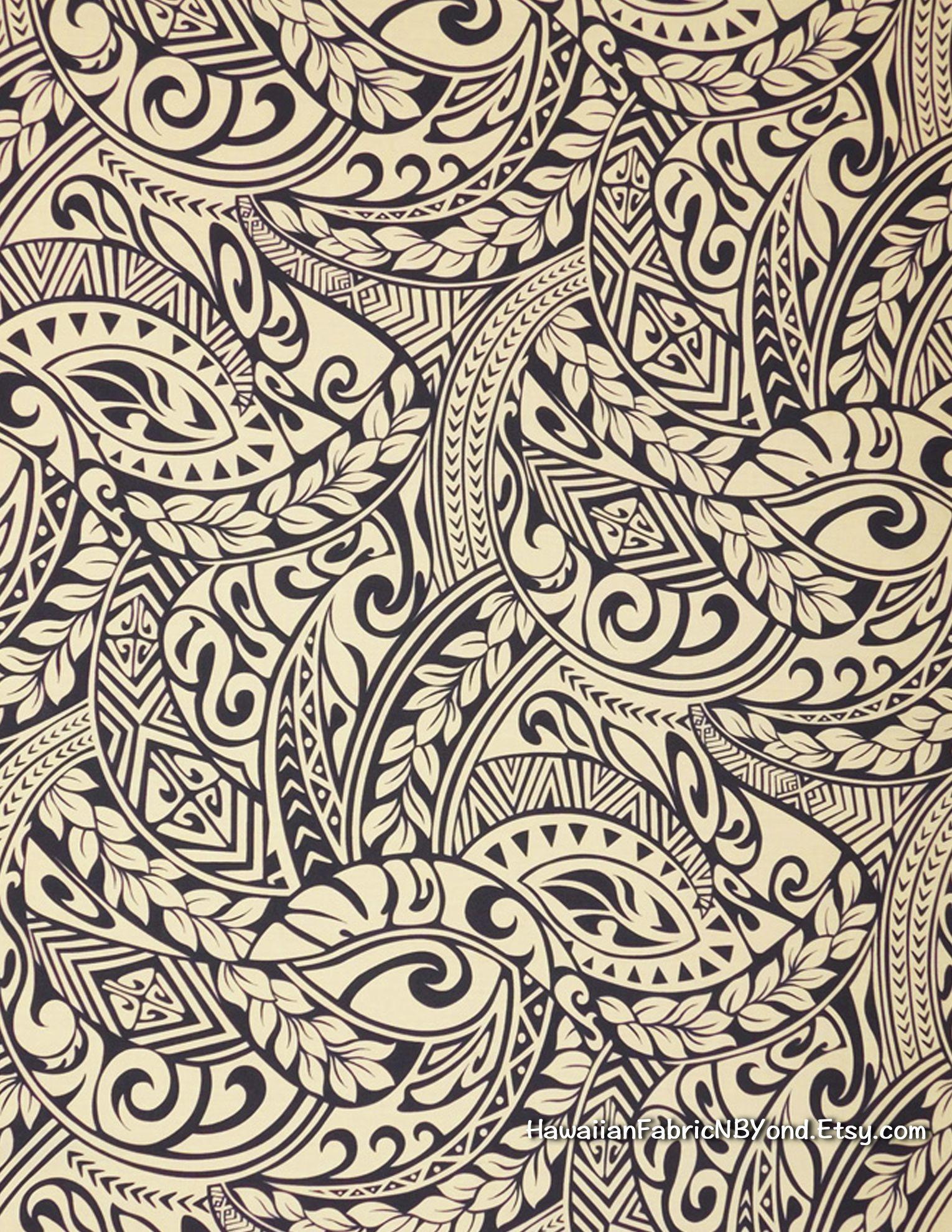 Fabric: Polynesian tribal tattoo patterns. lavalava fabric ... - photo#6