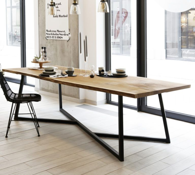 Esstisch Steel Oak – Massive Eiche & Design-Stahlgestell #eetkamer