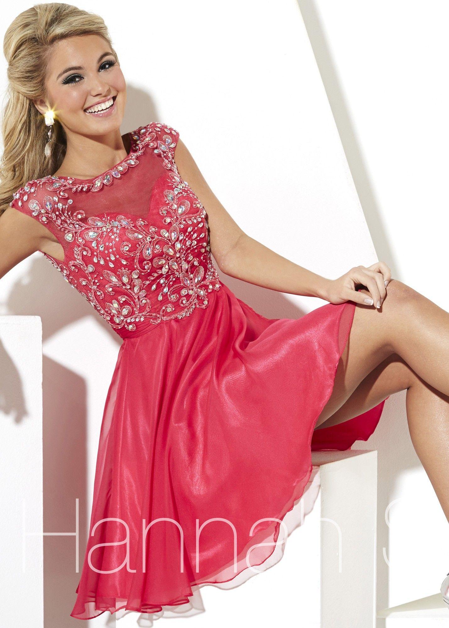 Hannah S 27888 Two Tone Chiffon Dress   Vestiditos