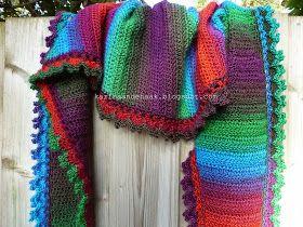 Karin Aan De Haak Fenna Flow Sjawl örgü Crochet Crochet Shawl