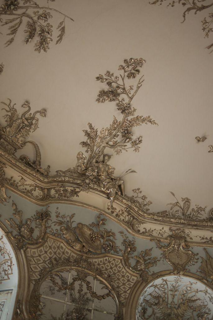Ceiling detail in amalienburg schloss nymphenburg munich