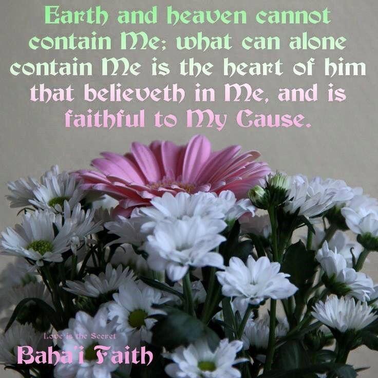 A sacred Baha'i quote from Baha'u'llah..