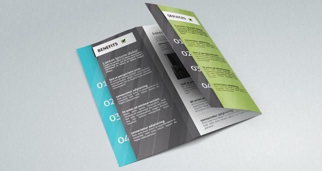 Repost Template De Folder Dobrável Grátis Tri Fold Brochure - Foldable brochure template