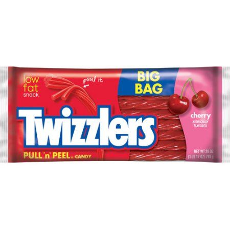 Twizzlers Pull 'n' Peel Cherry Licorice Chewy Candy, 28 Oz