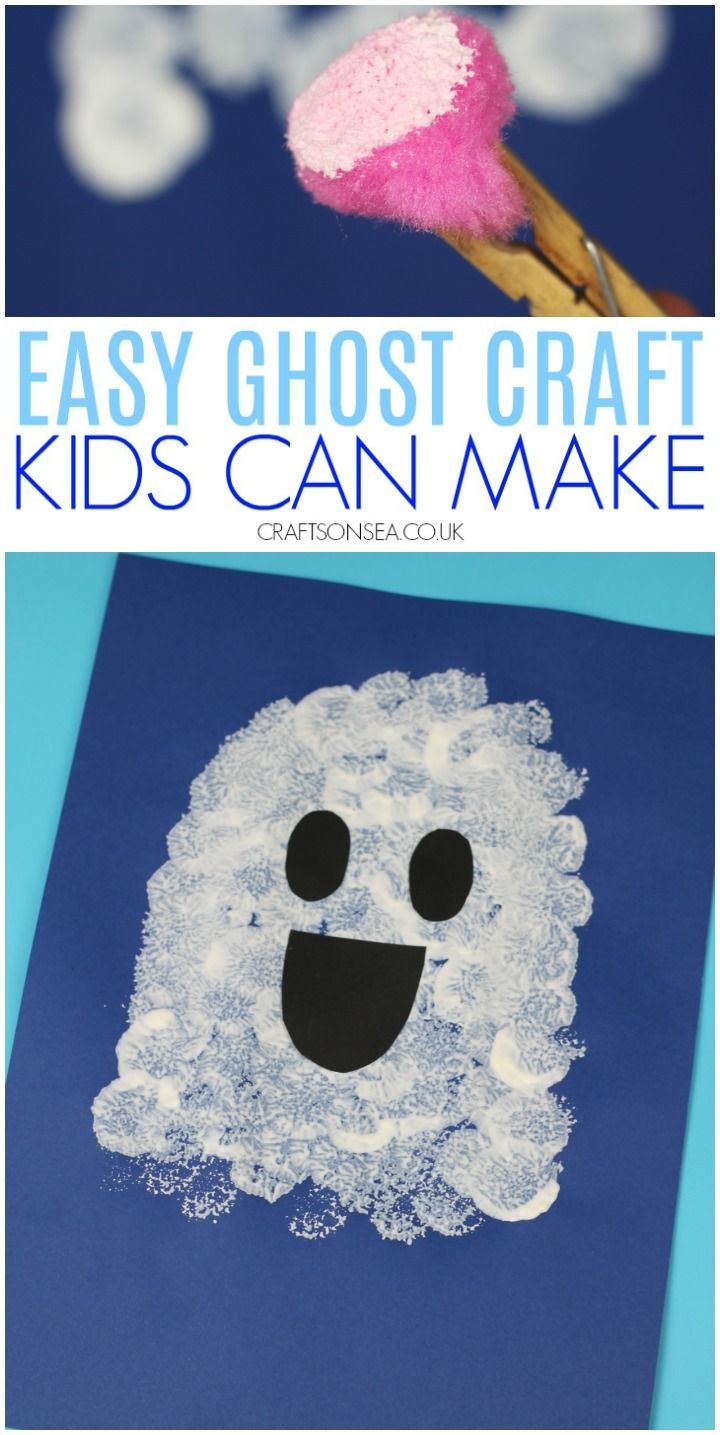 Photo of Easy ghost craft kids can make