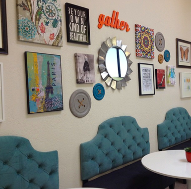 Julie Thigpen Designed This An Employee Break Room From A Clothing