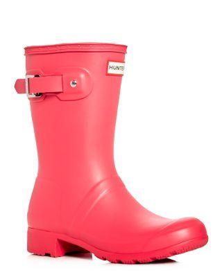 Compare and shop from fashion stores for HUNTER Women'S Original Tour  Packable Short Rain Boots, Mosse Pink.