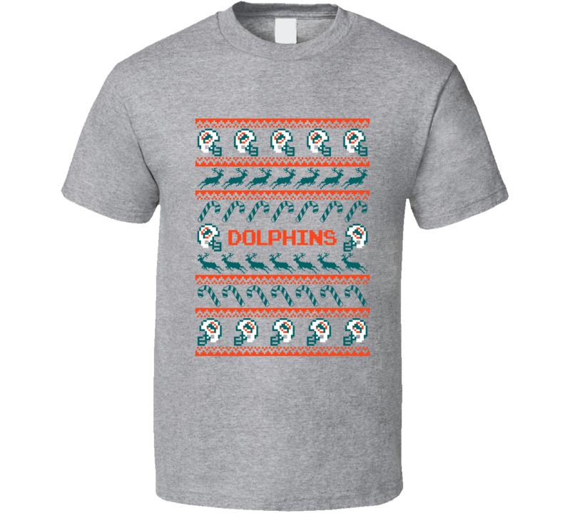 Dolphins Football Ugly Christmas Sweater T Shirt Miami Dolphins