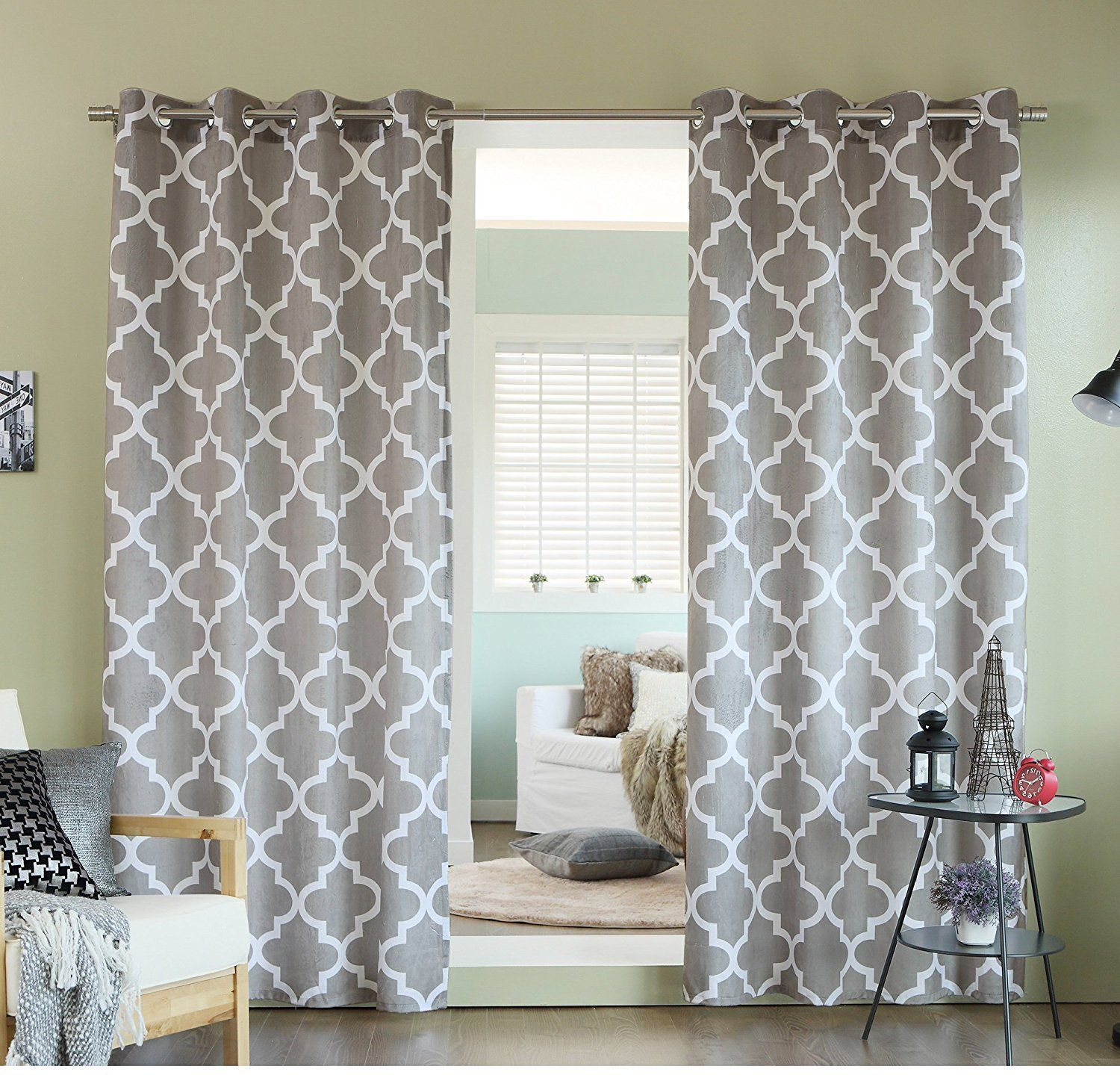 curtain encouragement striped plus designs grey black large blue fantastic rc patterned trelliskhaki navy size curtains pattern grommets as and bedroom gray of tan then white marvelous interior trellis wells together