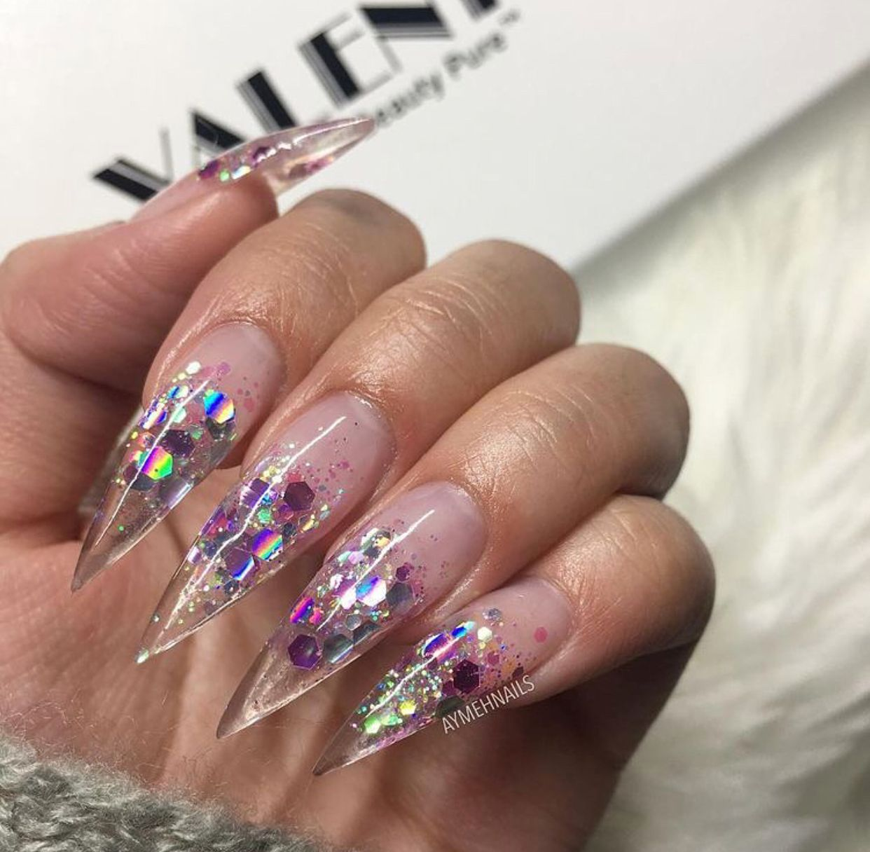Make It With Me: Silver Stiletto Nails