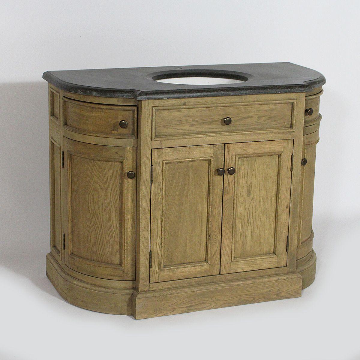 Salle De Bain En Pierre Bleue ~ meuble de salle de bain en bois recycl avec plateau en pierre