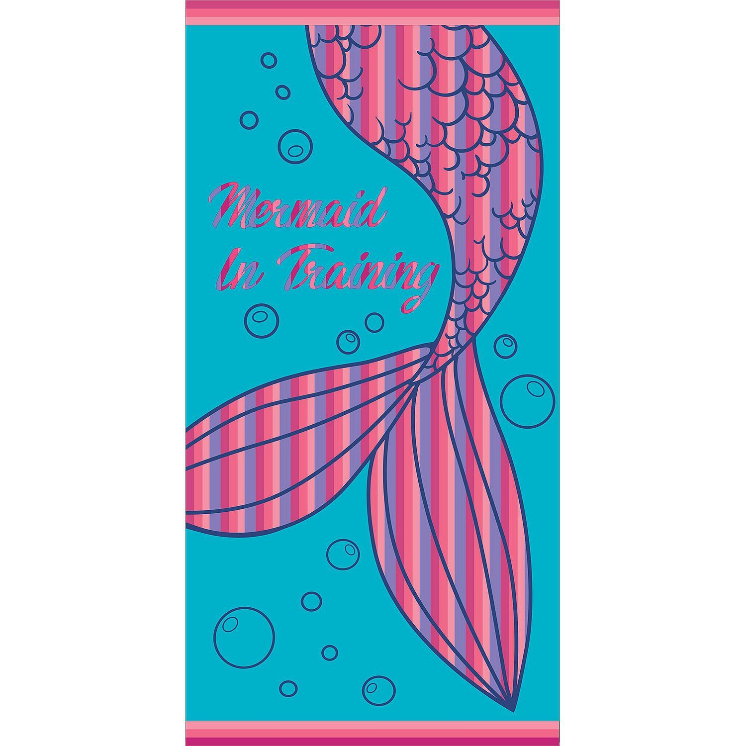 Personalized Kids Beach Towels Mermaid Towels Personalized