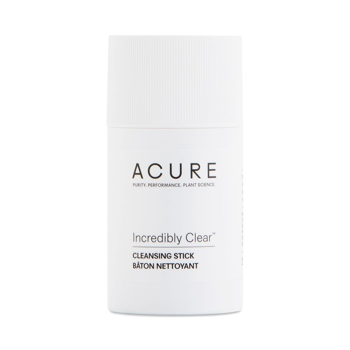 Acure Incredibly Clear Cleansing Stick 2 Oz Tube