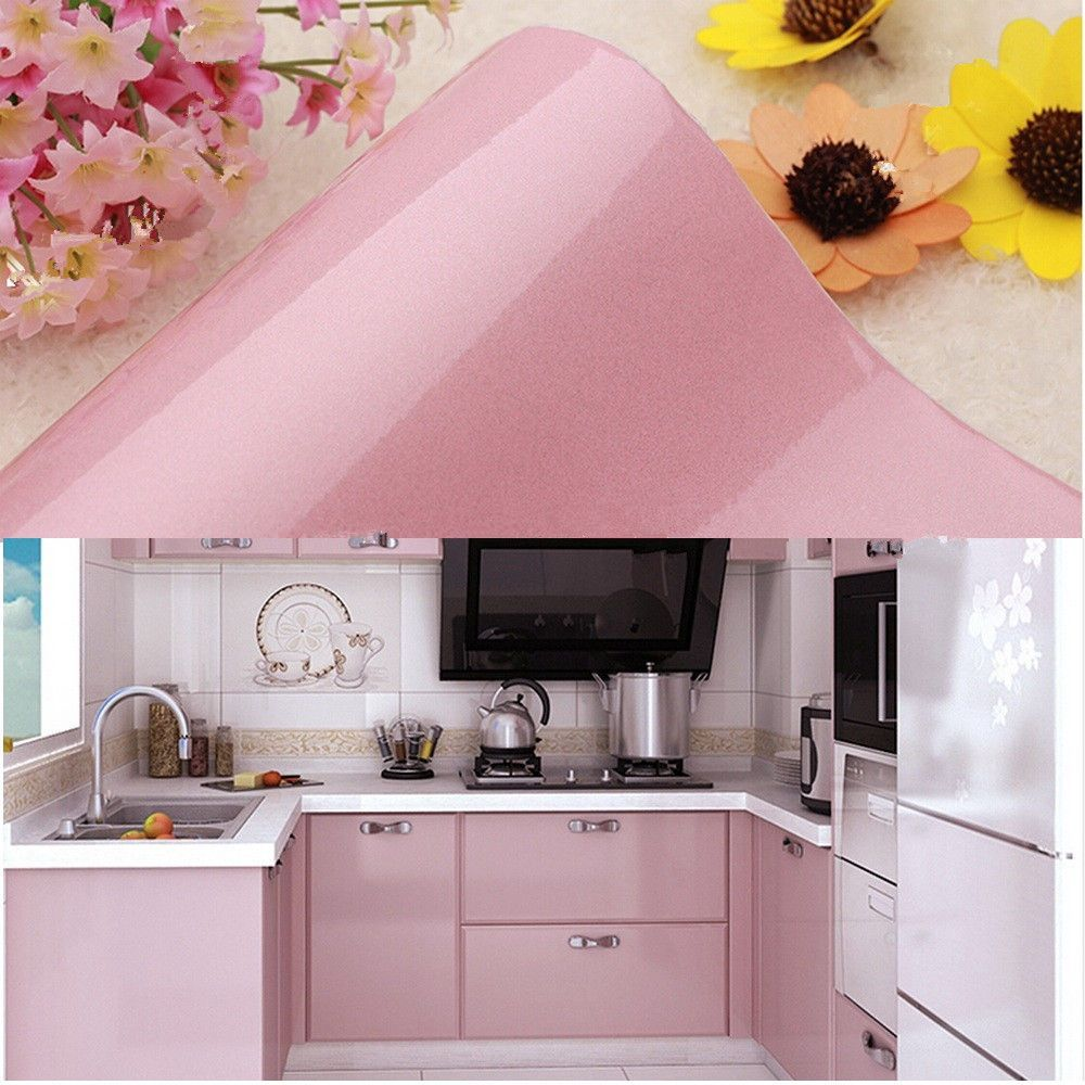 4 59aud Pink Contact Paper Self Adhesive Vinyl Kitchen Cupboard Door Cover Film Ebay Kitchen Cupboard Doors Kitchen Cupboards Contact Paper Kitchen Cabinets