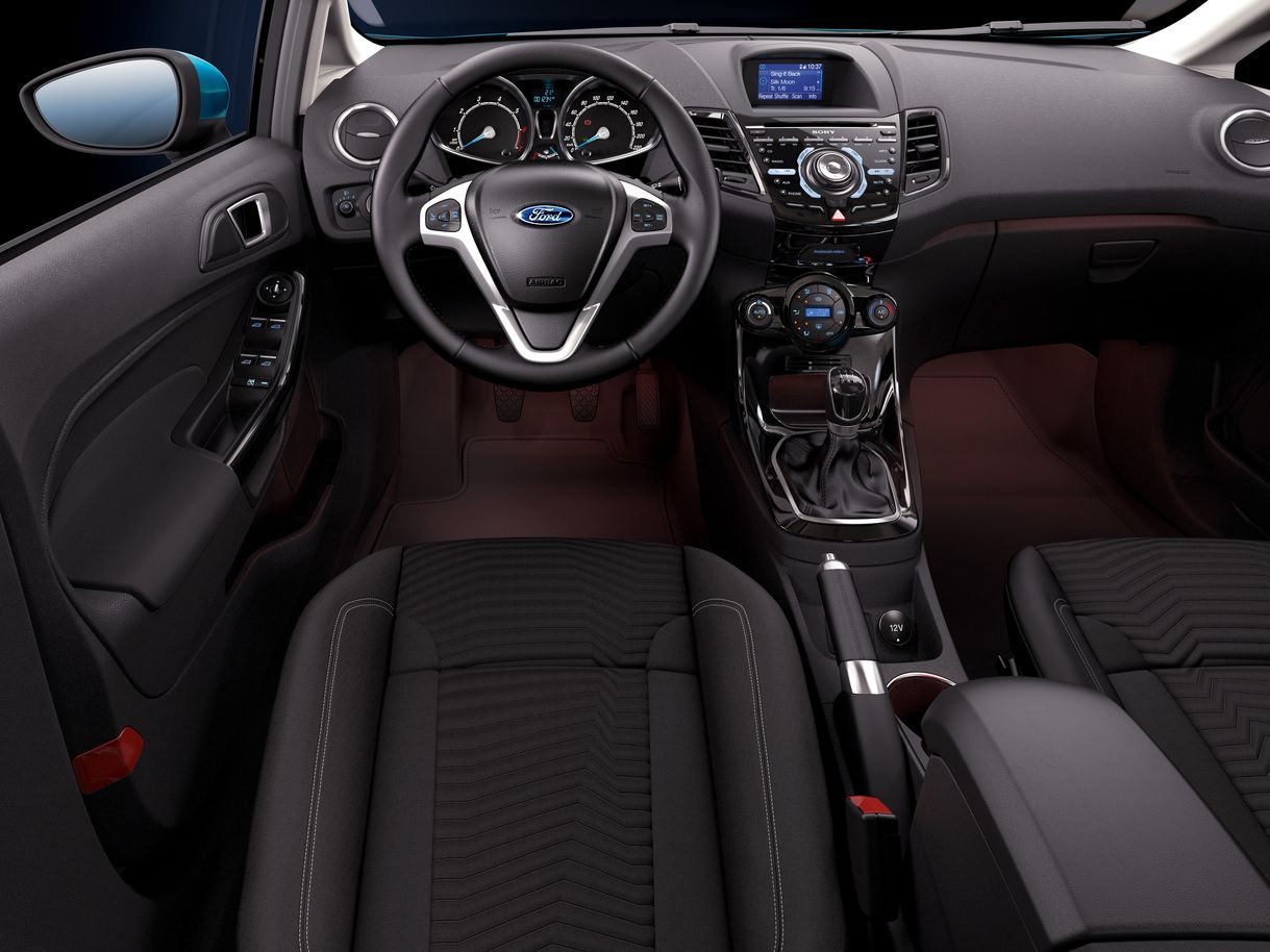2014 Ford Fiesta Hatchback Interior Car Dashboard Wallpapers