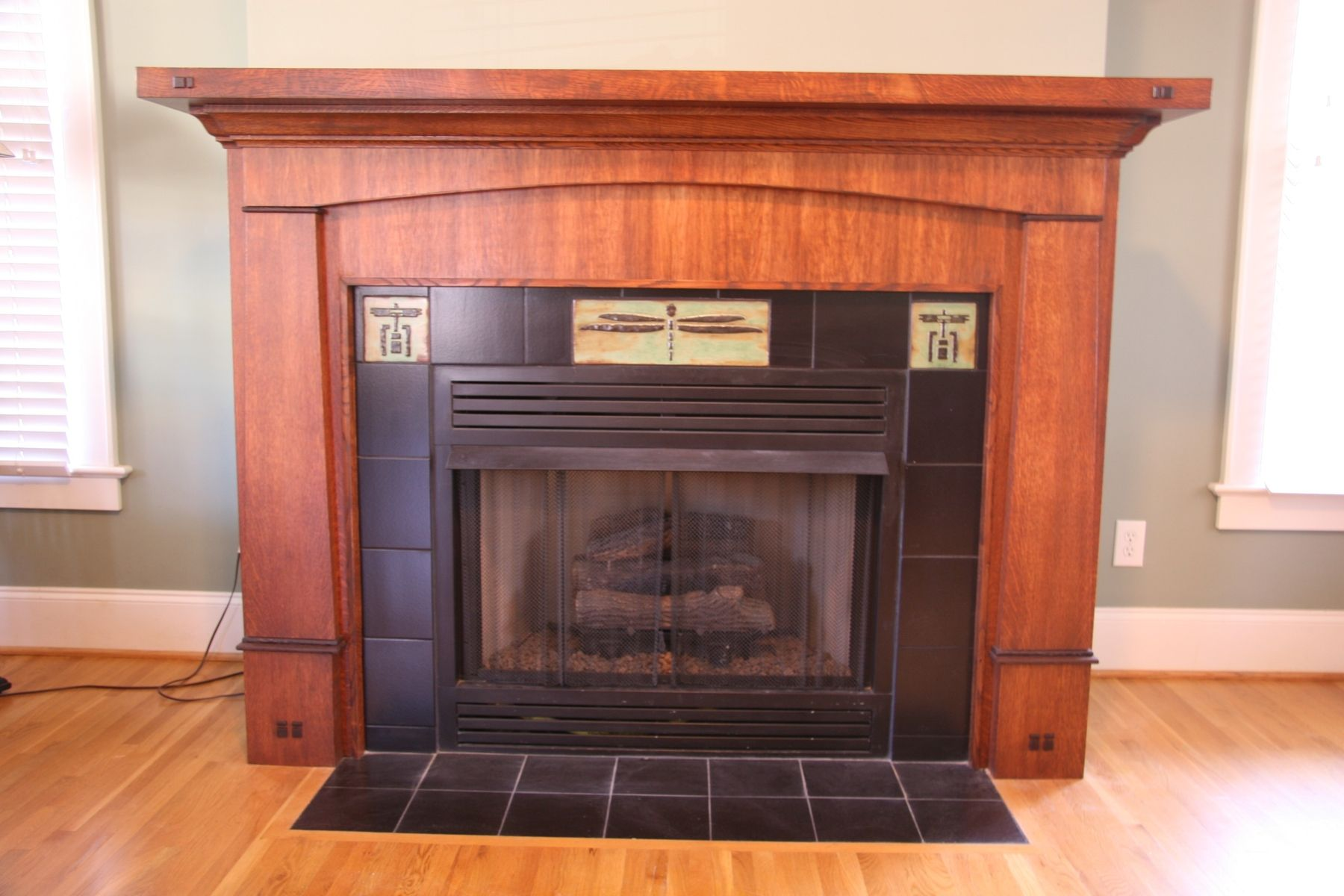 Craftsman style decorating hand made custom craftsman for Craftsman gas fireplace