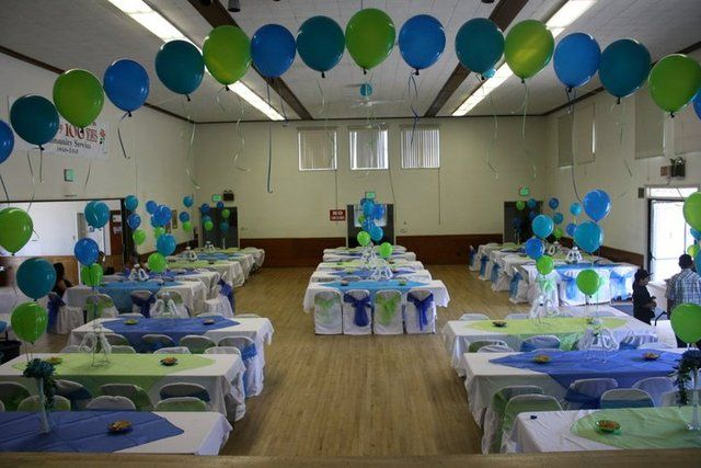 Blue And Green Baptism Party Ideas Party Decorating Baptism