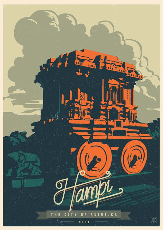 Travel postcards are a vintage delight | Behance, Illustrations ...
