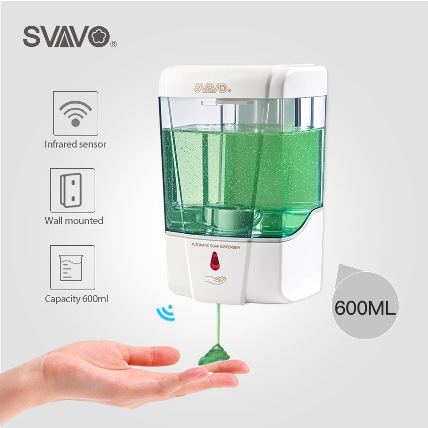 600ml Capacity Automatic Soap Dispenser Touchless Sensor Hand Sanitizer Detergent Dispenser Wall Mounted For Bathroom Kitchen In 2020 Automatic Soap Dispenser Detergent Dispenser Soap Dispenser