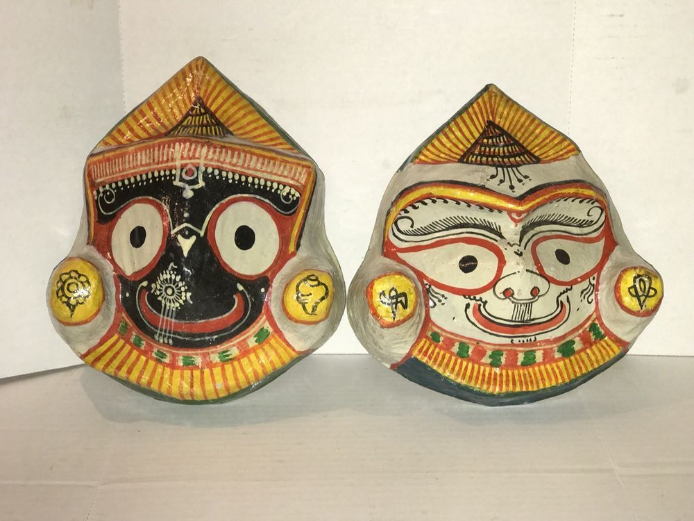Wall Mask Decor Unique Vintage Wall Mask Hanging Decor Paper Mache Hand Painted Asian Decorating Design