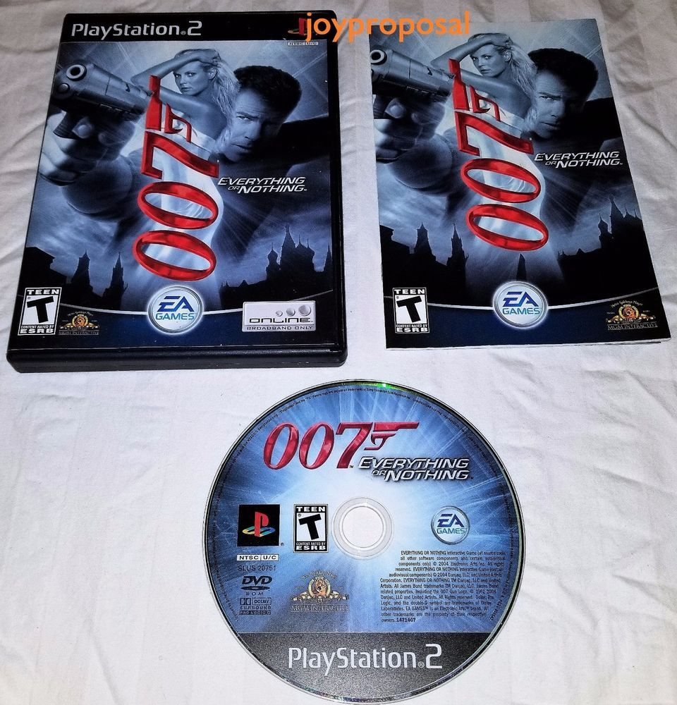 James Bond 007 Everything Or Nothing Playstation 2 Game With