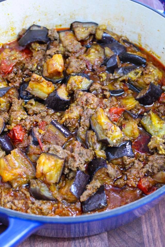 Eggplant Ground Beef Recipe Maral In The Kitchen Ground Beef Recipes Beef Recipes Healthy Ground Beef