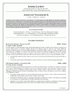 Teacher S Assistant Resume Example Page 1 Preschool Activities