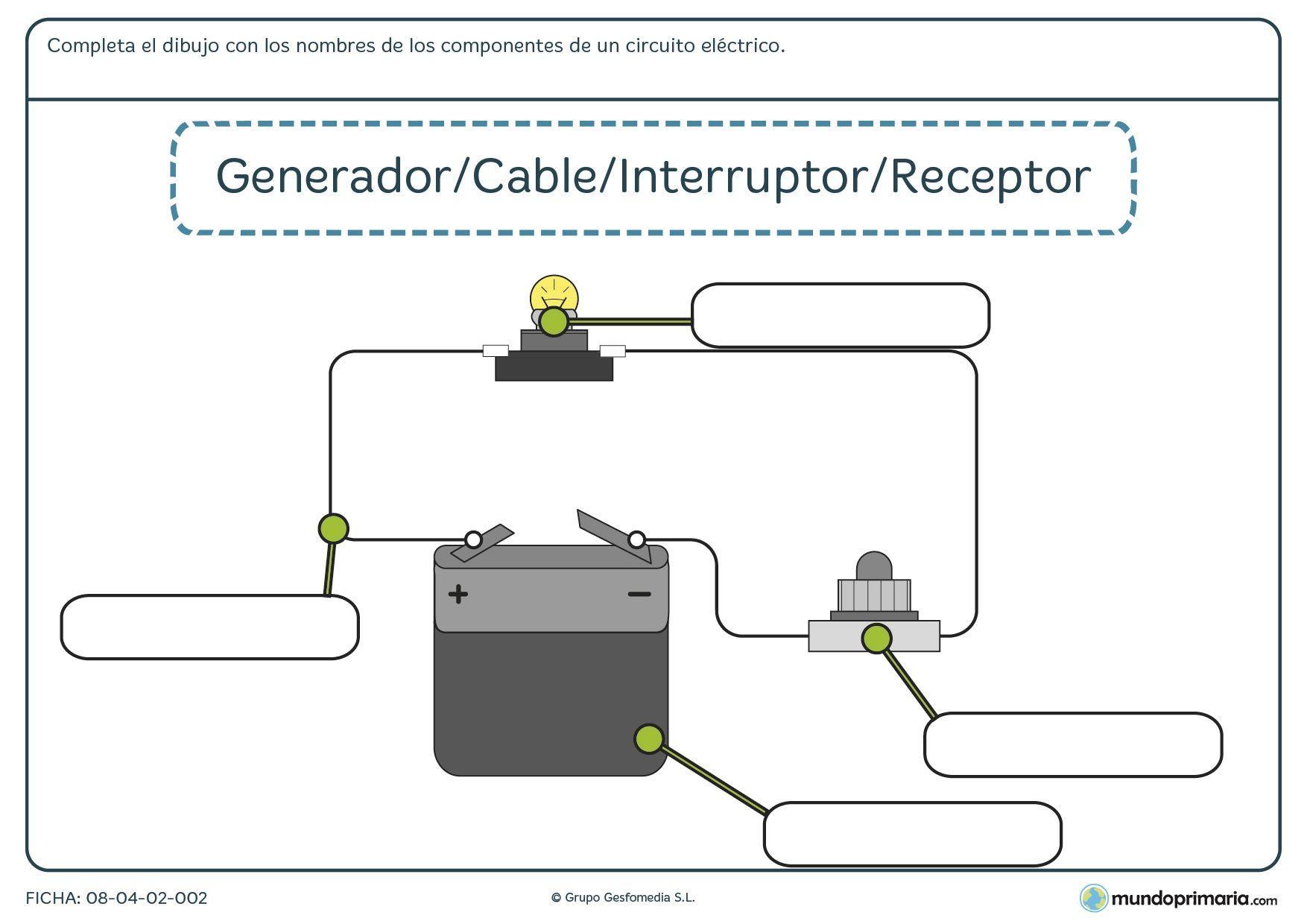 Circuito Electrico Simple : Fichas para imprimir ➔ para niÑos de primaria para imprimir