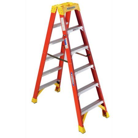 6 Type Ia Fg Twin Front Ldr Walmart Com In 2020 Step Ladders Ladder Wood Step Stool