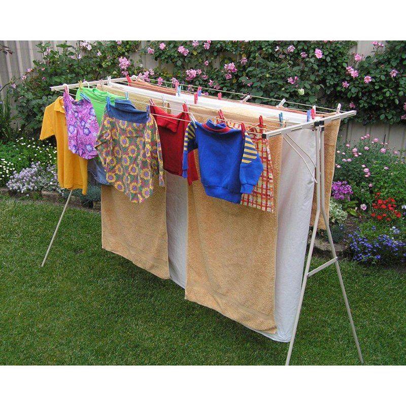Mrs Pegg S Handyline Standard Clothesline Www Hayneedle Com Clothes Drying Racks Clothes Line Portable Clothes Line